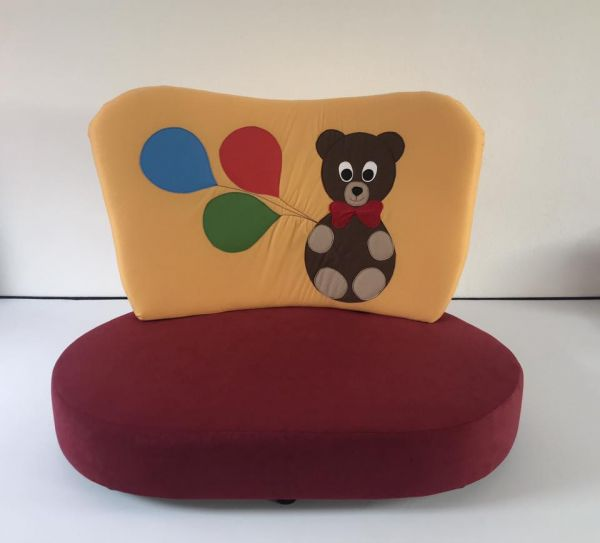 "Kindersofa gelb ""Teddy"""