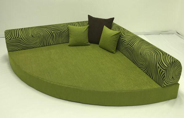 Kuschelecke grün mit Kringel