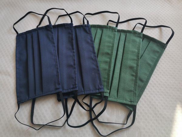 Mund- Nasenmaske grün/blau