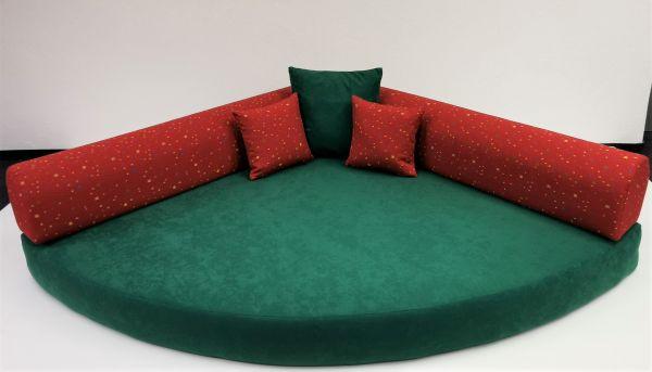 Kuschelecke grün Rücken Tigris rot