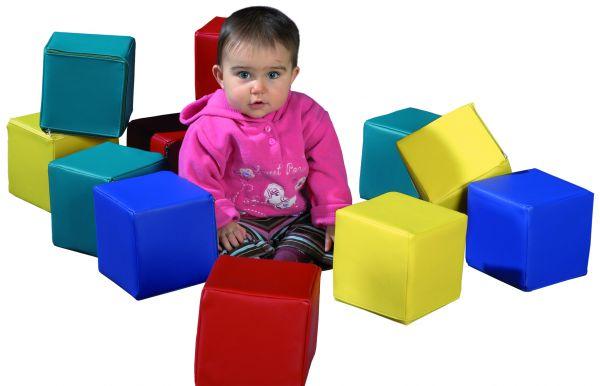 Baby-Bausteinsatz 12-teilig rot,grün,blau und gelb