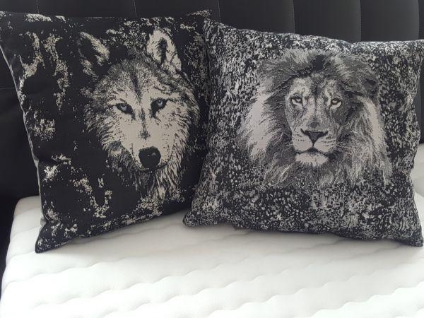 Kissenbezug Löwe und Wolf a` 50x50cm