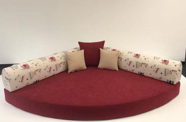 Kuschelecke Zootiere /Grundfarbe rot