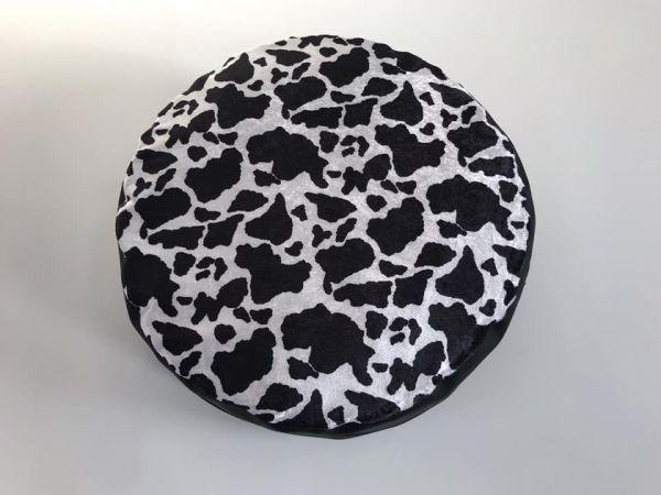 Sitzkissen schwarz / weiss Durchmesser 100cm Sitzhöhe 25cm