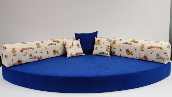 Kuschelecke Teddy Sitzfläche blau