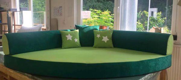 Kuschelecke uni grün/hellgrün