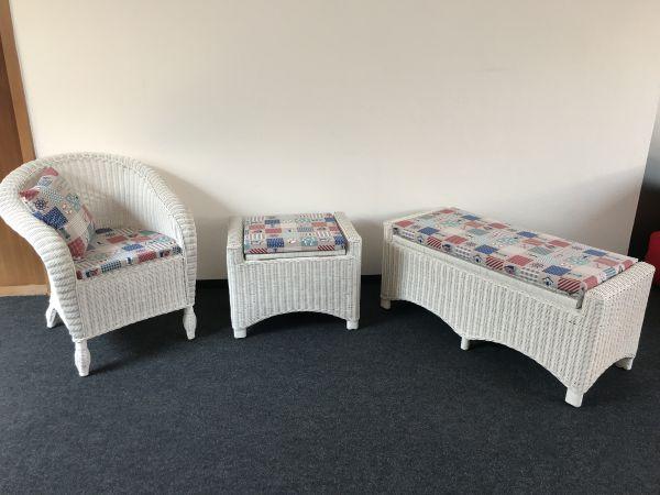 2 Hocker mit aufklappbarer Sitzfläche 03453/1-2 +SesselCopy