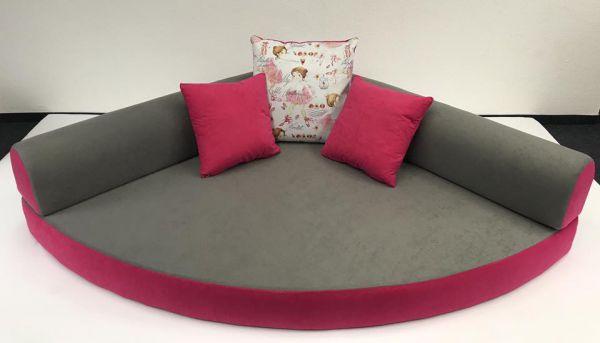 Kuschelecke grau - pink Ballerina