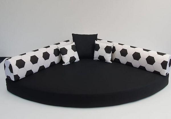 Fußball - Kuschelecke schwarz weiß