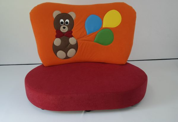 "Kindersofa orange ""Teddy"""
