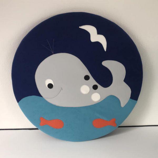 Krabbel- und Spielpolster Motiv Wal,